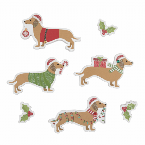 Festive Dachshund 7 Pieces